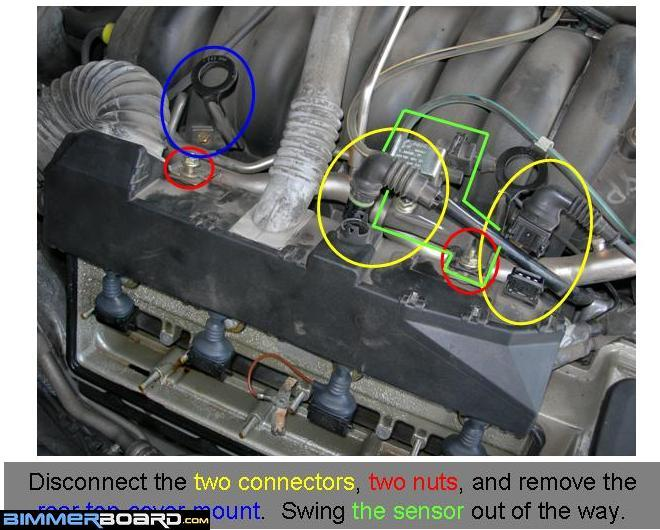 the tis would have you believe that you can simply fold the wiring box over  the top of the engine to give you access to the cover  the tis is wrong