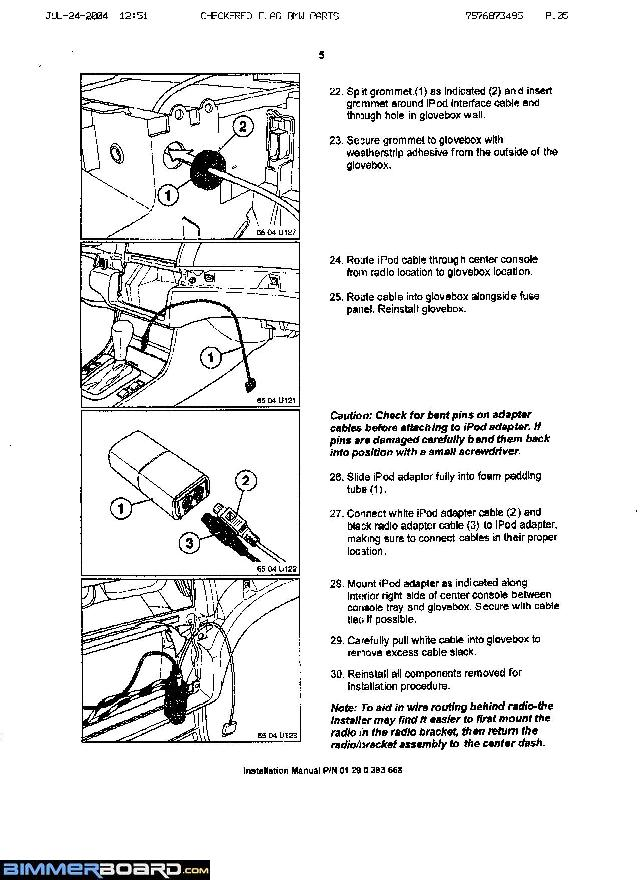 Ipod Install Instructions From Per Bmw