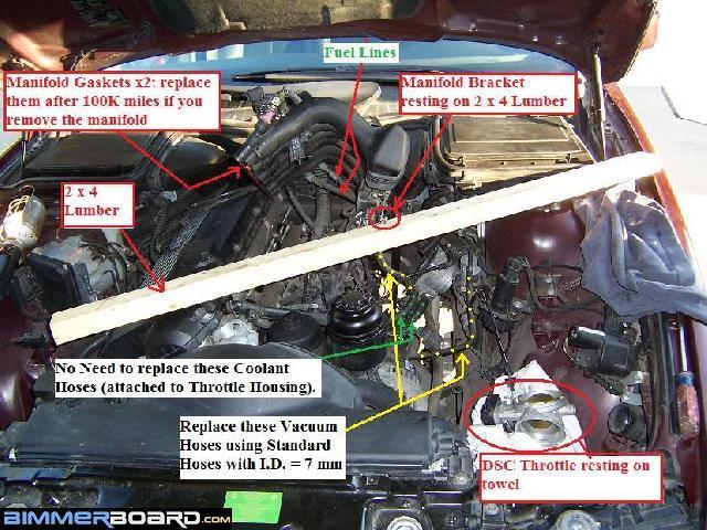 E39 intake manifold removal diy | Replacing BMW M52/S52 intake