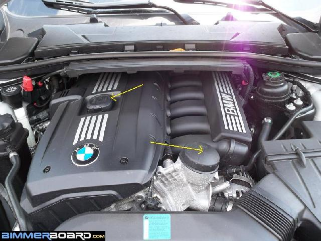 DIY Oil Change On A I - Bmw 328i engine