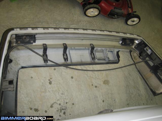 e36 bumper removal rear