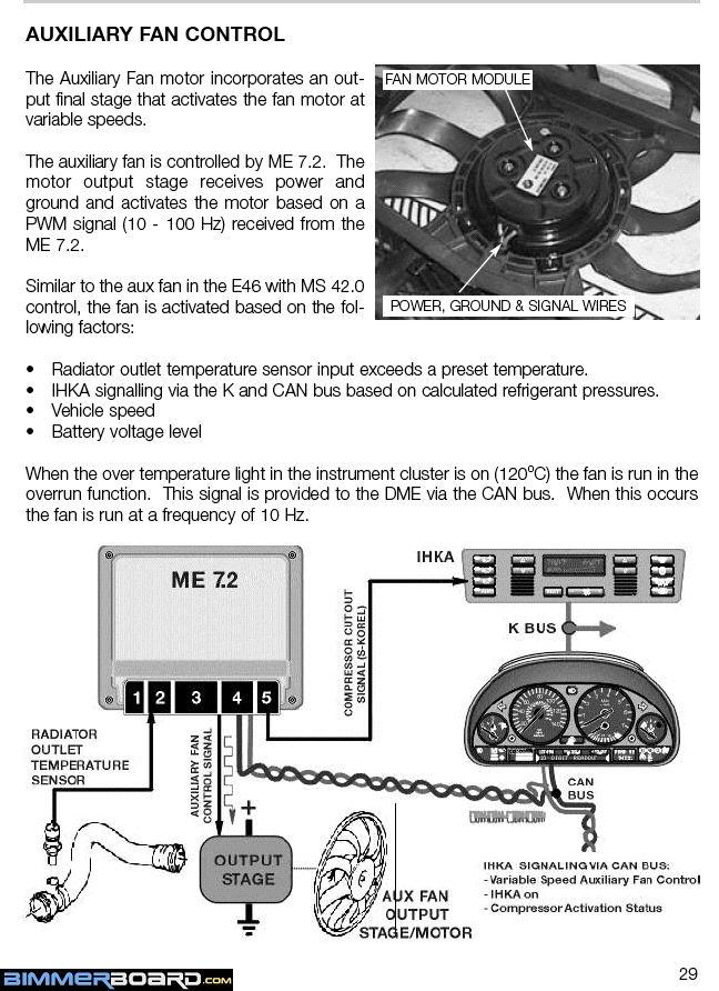 Aux fan wiring question 1999 540i