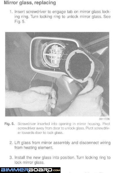 E34 Mirror Glass