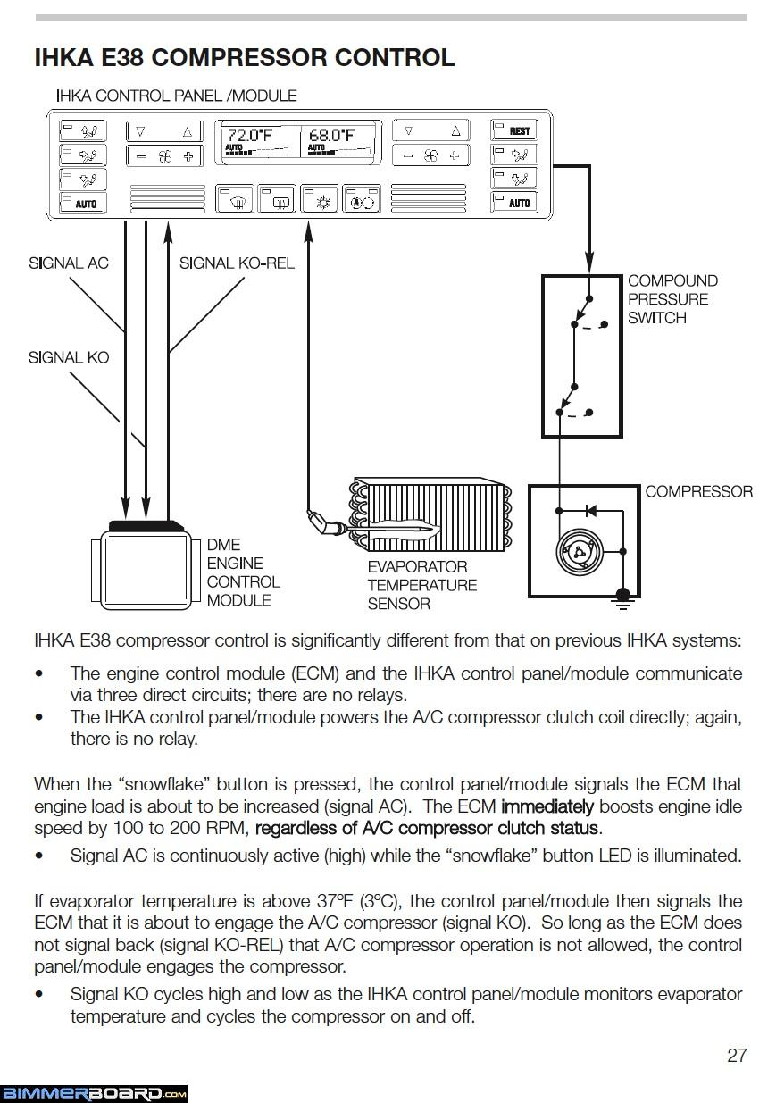 E38 IHKA AC Compressor Control 1 e46 hvac diagram bmw e46 climate control manual \u2022 wiring diagrams 2004 bmw 530i wiring diagrams at bayanpartner.co