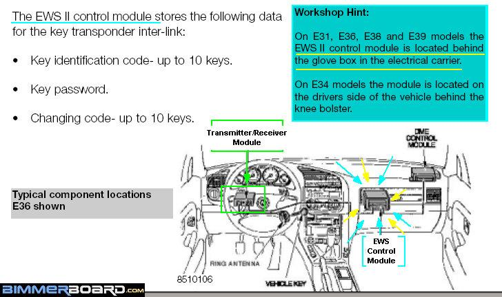 E38 KeylessEntry EWS Control Module edwin, does it depend on build date? ews ii & ews iii changeover E46 Wiring Diagram PDF at bayanpartner.co