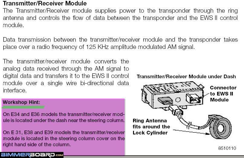 E38 KeylessEntry Tran Recvr Module e34 ews ii diagram data wiring diagram