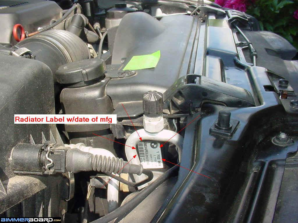 Coolant Stick Fell In Bmw 525i Expansion Tank Assume That It Is The Original Radiatorif Radiators Mfg Date Years After Cars Build Dateits Already Been Replaced At Least Once