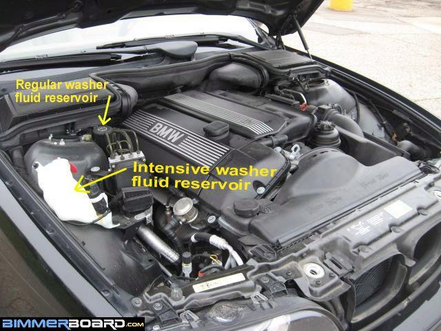 E39 Intensive Washer Reservoir windshield washer fluid warning light bimmerfest bmw forums  at crackthecode.co