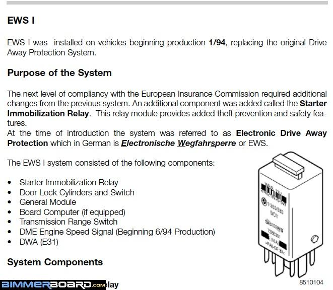 1994 e38 740i won t start after new key possible ews issue ews ii is when the keys received the chip and that starts a 1 95 build date if your car was built before 1 95 then it has ews 1