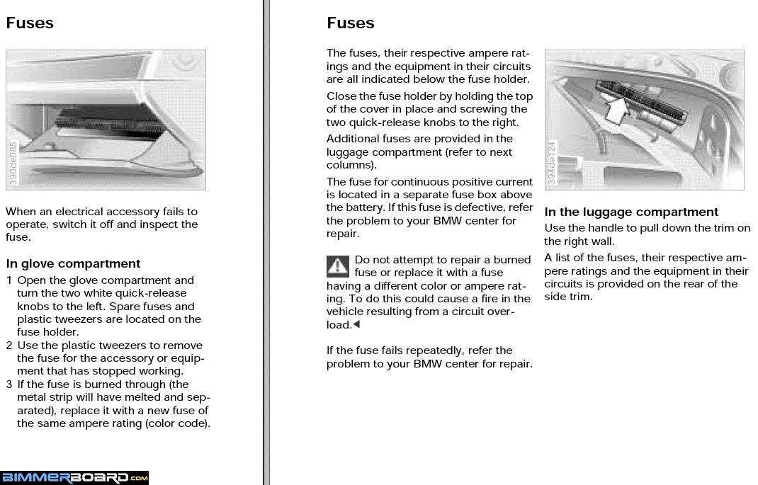 fuse box location i bmw forums