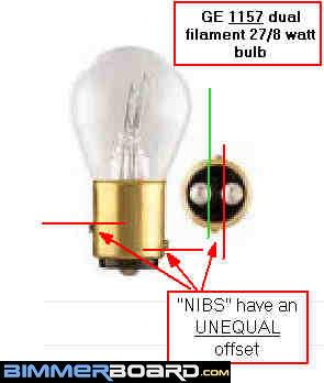 GE 1157 Dual filament bulb rear brake tail light bulb replacement 1157 wiring diagram at soozxer.org