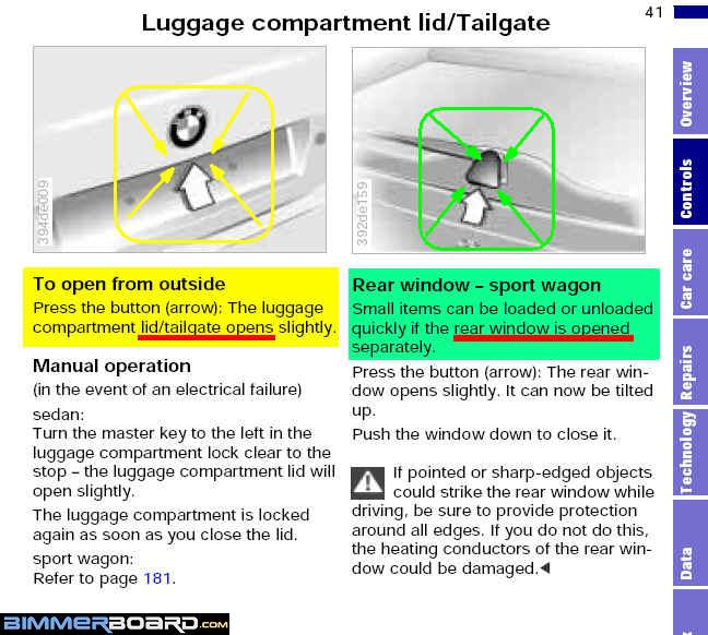 Touringwagon owners question about tailgate lifts gate is located on the underside of the rear windshield wiper see the text highlighted in green in the pic below and press on the button where the asfbconference2016 Choice Image