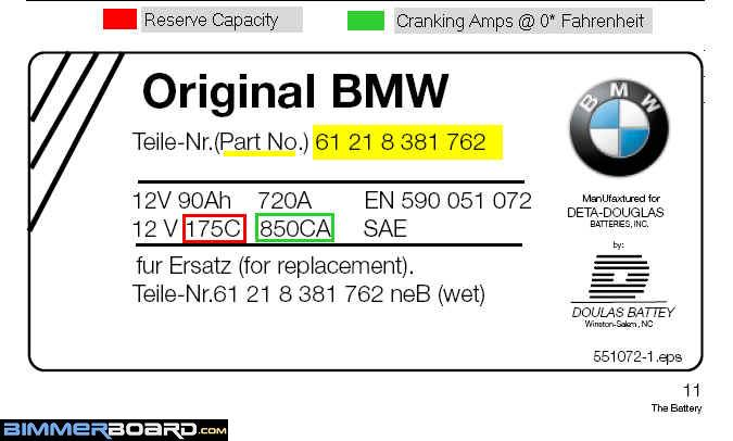 Battery choice  does it need to be a BMW battery  Bimmerfest