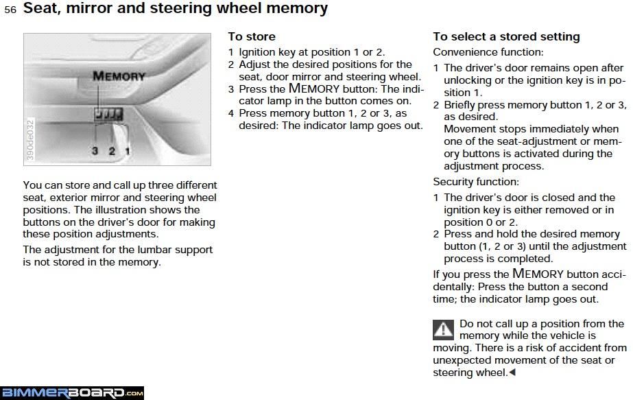 keep losing seat memory settings why if that s not the issue then the next control modules that would control the seat functions is the m 3 2 1 switch the door s switch block module