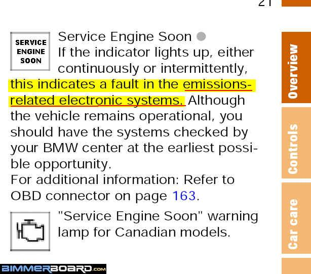 Check engine light bimmerfest bmw forums post back with the 5 digit dtc diagnostic trouble code p code or google it and youll be on your way to deducingdiagnosing what caused the light to publicscrutiny Gallery