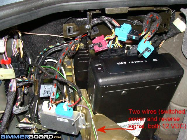 Camera 16 rearview camera install (full oem) w o tv tuner bmw e46 reverse camera wiring diagram at gsmx.co