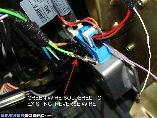 Camera 17 rearview camera install (full oem) w o tv tuner bmw e46 reverse camera wiring diagram at gsmx.co