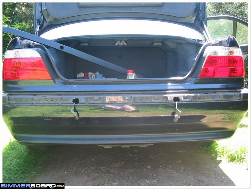 bmw e46 rear bumper cover removal