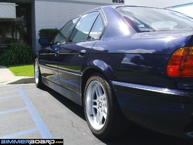 That my friend is the sweet raked look of the sport package 740i sold orient blue 740i sport 1199 in san diego 166k miles only mods mk3 de us quad taillights bilsteins chrome trunk strip dec08 to aug12 publicscrutiny Image collections
